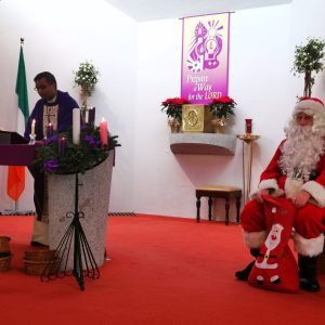 Santa Visits Our Parish Masses