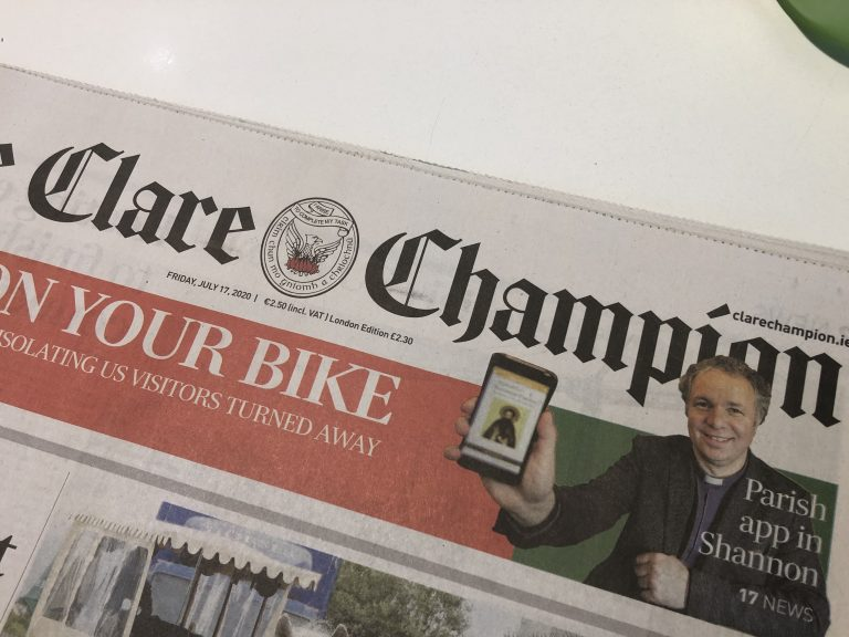 Shannon Parish App in the Clare Champion